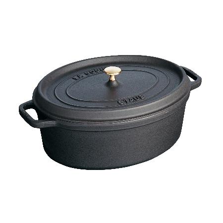ストウブピコ・ココット楕円33cmブラック40509-322【ストウブ鍋ココット調理器具鋳物鋳鉄】