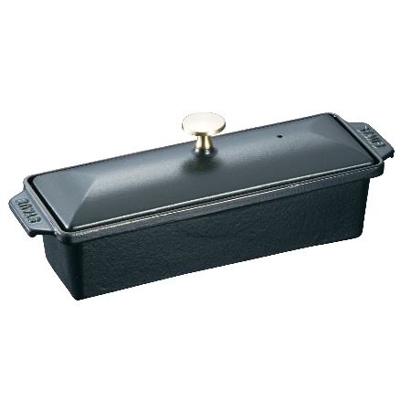 ストウブ長角テリーヌ黒40509-57530cm【ストウブテリーヌテリーヌ型フタ付き容器保存キッチンウェア】