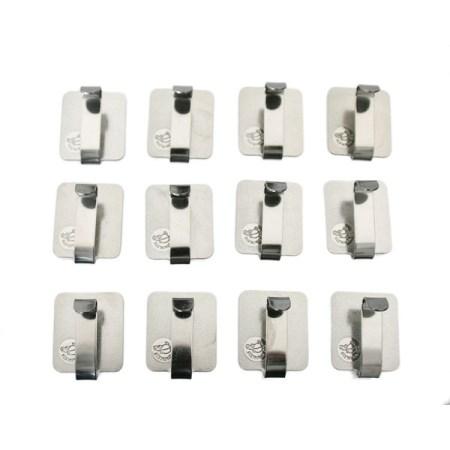 熱着壁掛け メーカー再生品 物掛けフックシリーズ スッポンフック ステンレス お買い得12個入 壁掛け 大一鋼業 熱着 即納最大半額 フック