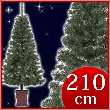 カナディアンツリー 四角ポット付 210cm【東京ローソク製造 X'mas クリスマスツリー クリスマス ツリー】