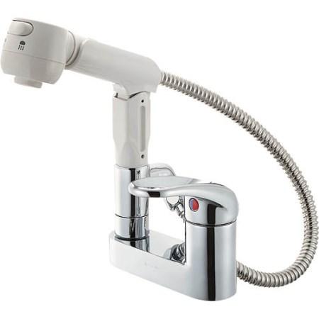 シングルスプレー混合栓(洗髪用) K37100V-13【三栄水栓 SANEI K37100V-13 水道用品 混合栓 洗面用】