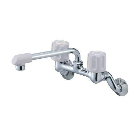 ツーバルブ混合栓(寒冷地用) K21DK-LH-13【三栄水栓 SANEI K21DK-LH-13 水道用品 混合栓 台所用】