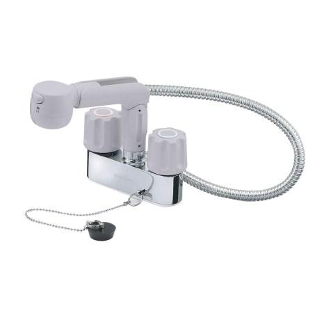ツーバルブスプレー混合栓(洗髪用)(寒 K31KR-LH-13【三栄水栓 SANEI K31KR-LH-13 水道用品 混合栓 洗面用】