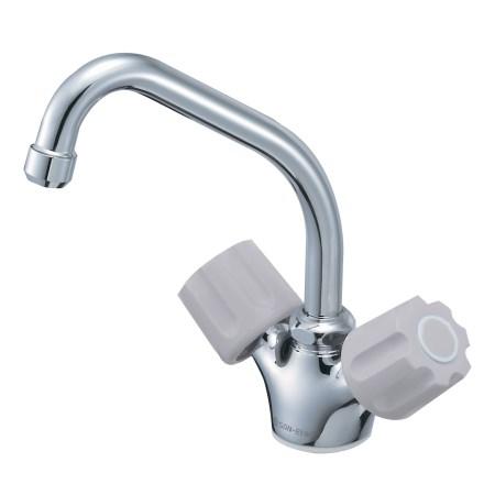 ツーバルブワンホール混合栓(寒冷地用) K811K-LH-13【三栄水栓 SANEI K811K-LH-13 水道用品 混合栓 台所用】