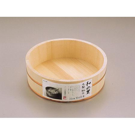 家庭で楽しく寿司パーティーを!! 和の里木製飯台30cm約4合用