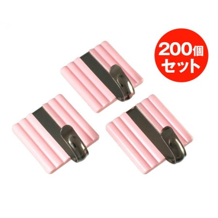スッポンフック カク 200個 ピンク s11p200【大一鋼業 インテリア フック 熱着フック s11p200 】
