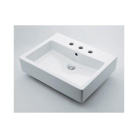 カクダイ 角型洗面器3ホール #DU-0452600030【カクダイ KAKUDAI #DU-0452600030 水道用品 洗面用部品 洗面器・手洗器】