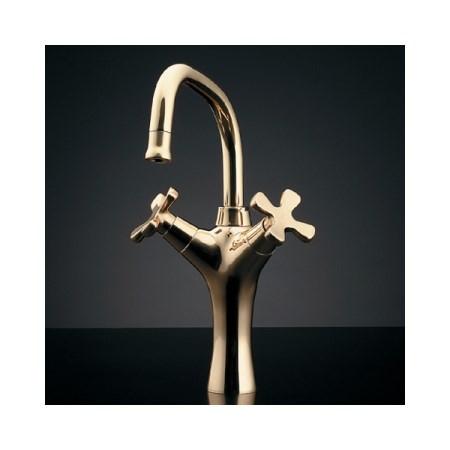 カクダイ 2ハンドル混合栓トール、ゴールド 150-417【カクダイ KAKUDAI 150-417 水道用品 混合栓 デザイン水栓】