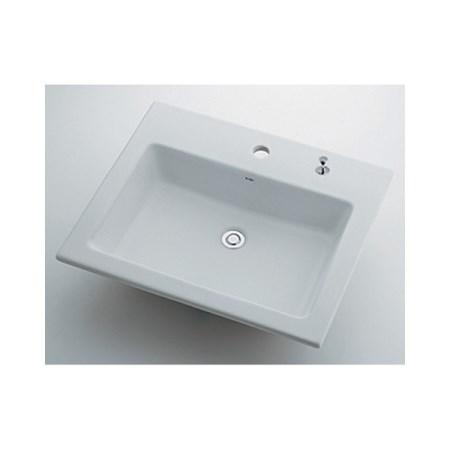 カクダイ 角型洗面器1ホール・ポップアップ穴付 493-008H【カクダイ KAKUDAI 493-008H 水道用品 洗面用部品 洗面器・手洗器】