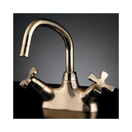 カクダイ 2ハンドル混合栓ゴールド 151-204【カクダイ KAKUDAI 151-204 水道用品 混合栓 デザイン水栓】