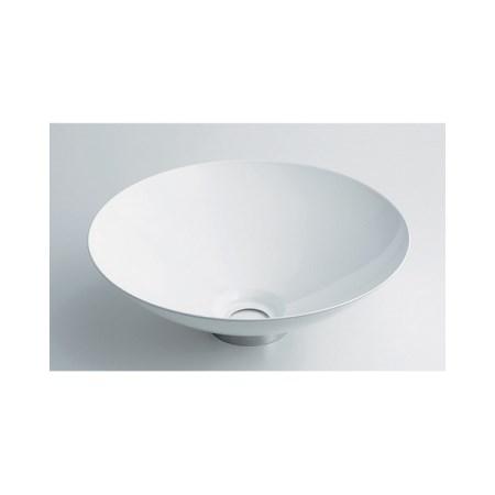カクダイ 丸型手洗器ホワイト 493-039-W【カクダイ KAKUDAI 493-039-W 水道用品 洗面用部品 洗面器・手洗器】