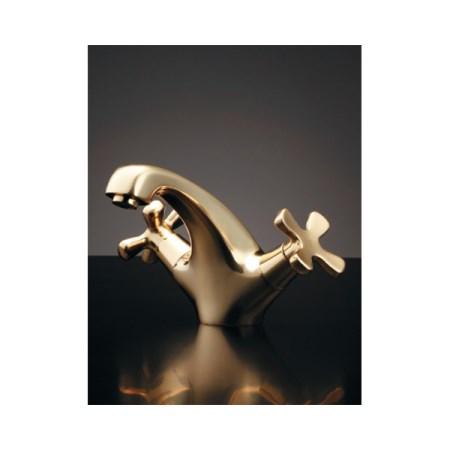 【ポイント10倍 6/4 20:00~6/11 1:59まで】カクダイ 2ハンドル混合栓ゴールド 150-437【カクダイ KAKUDAI 150-437 水道用品 混合栓 デザイン水栓】