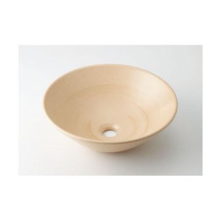 カクダイ 丸型手洗器亜麻 493-046-CR【カクダイ KAKUDAI 493-046-CR 水道用品 洗面用部品 洗面器・手洗器】