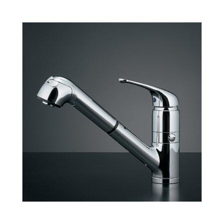 カクダイ シングルレバー引出し混合栓(分水孔付) 118-038K【カクダイ KAKUDAI 118-038K 水道用品 混合栓 デザイン水栓】