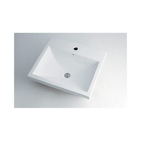 カクダイ 角型洗面器1ホール 493-003【カクダイ KAKUDAI 493-003 水道用品 洗面用部品 洗面器・手洗器】