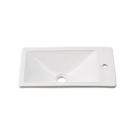カクダイ 角型手洗器月白 493-010-W【カクダイ KAKUDAI 493-010-W 水道用品 洗面用部品 洗面器・手洗器】