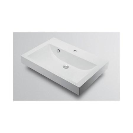 カクダイ 角型洗面器1ホール 493-070-750【カクダイ KAKUDAI 493-070-750 水道用品 洗面用部品 洗面器・手洗器】