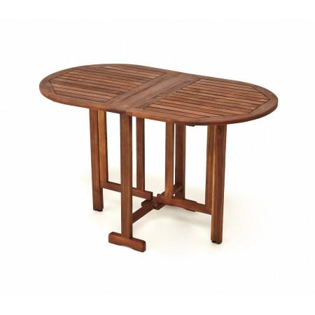 フォールディングオーバルテーブル AC-DT120【アサヒペン ファニチャー テーブル チェア テーブルセット ガーデンセット ガーデンファニチャー アカシア 木製】