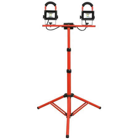 GREATTOOL(グレートツール) LED投光器三脚セット 防雨仕様 10W×2 GTLT-102S【アークランドサカモト 作業工具 工具 照明機器 LED】