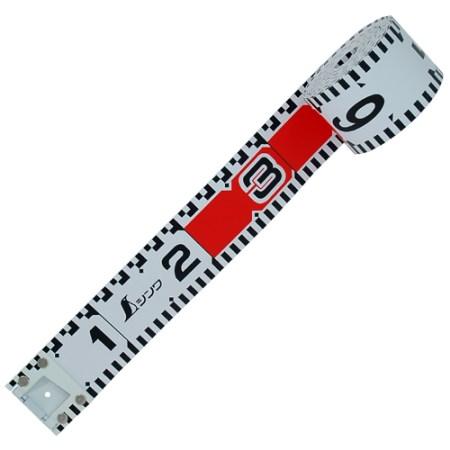 シンワ測定 ロッドテープ ガラス繊維製 10m 巾60mm 76971【シンワ測定 測定工具 測定 測量用具 ロッド】