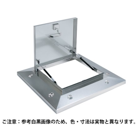 鍵付ラクラクハッチ 3段式 500mm 穴付・BK無 ステン OMK-61502【サヌキ 金物 ハッチ】