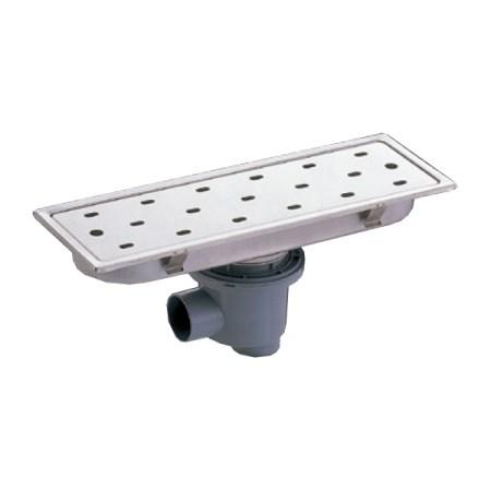 トラッピーセンター排水 150mmタイプ 448×148 SP-450C-B【サヌキ 浴室 トラップ 目皿】