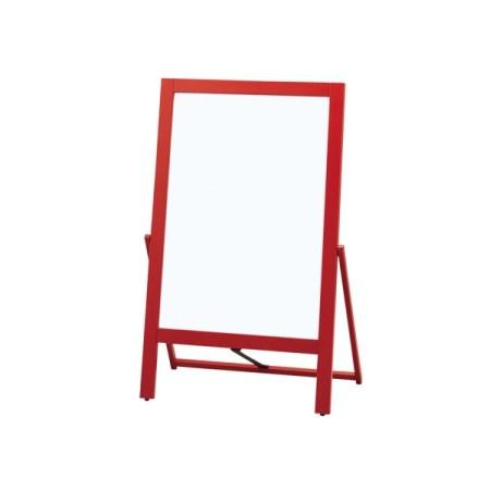赤枠片面マーカー用ホワイトボード KRWB117-1【イーゼル スタンド パネル 光 hikari】