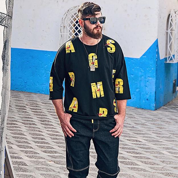 メンズファッション メンズトップス 休日 大きいサイズTシャツ メンズ服 Tシャツ ビッグサイズメンズ オリジナルデザイン 人気流行 新作人気 春夏秋 ビッグメンズのおしゃれコーディネーター SALE開催中 5分袖Tシャツ お洒落 メンズTシャツ