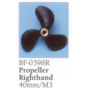 BillingBoats スクリュー プロペラ BF0398R キャンペーンもお見逃しなく 直径40mm 人気商品