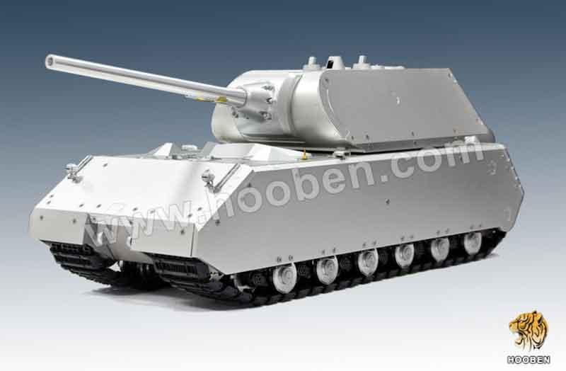 ラジコン戦車半完成品ホーベンHooben 1/16 MAUS SUPER HEAVY TANK プロ-メタルエディションARTR(フルカスタムアルミ車体・ナイロンキャタピラ・砲身リコイルシステム・サウンド・無塗装)C6605F/C6605SF
