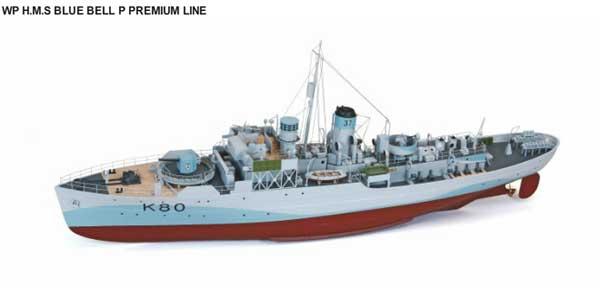 Graupner HMS 1/48 Graupner HMS ブルーベル塗装済完成品(WP H.M.S BLUE BELL BELL P PREMIUM LINE) 2200, 人気デザイナー:fa45fa68 --- officewill.xsrv.jp