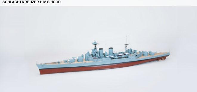1/150 戦艦 H.M.Sフッド 塗装済完成品(WP SCHLACHTKREUZER H.M.S HOOD) 2096