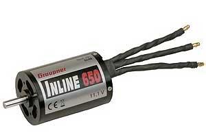 Graupner ブラシレスモーター(GRAUPNER INLINE 650 11,1V ) 6548
