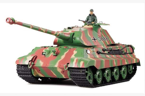 ラジコン戦車完成品ヘンロンHengLong 1/16ケーニヒス・ティーガー(金属ブラックキャタピラ・BB・サウンド・発煙仕様)German Pz.Kpfw VI