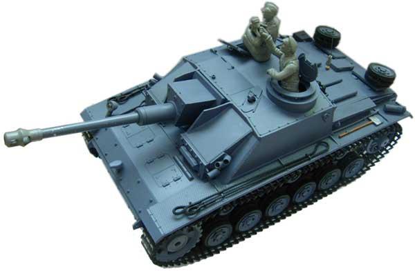ラジコン戦車完成品ヘンロンHengLong 1/16 III号突撃砲(2.4GHz・金属キャタピラ・BBシューティングシステム・サウンド・発煙仕様)German StugIII Tank Metal Tracks 25383
