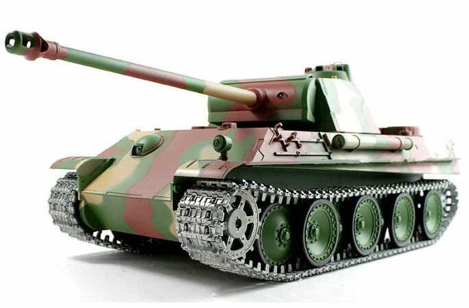 ラジコン戦車完成品ヘンロンHengLong 1/16 パンターG 後期型(金属キャタピラ・BB・サウンド・発煙仕様)German Panther-G Late version Tank Metal Tracks