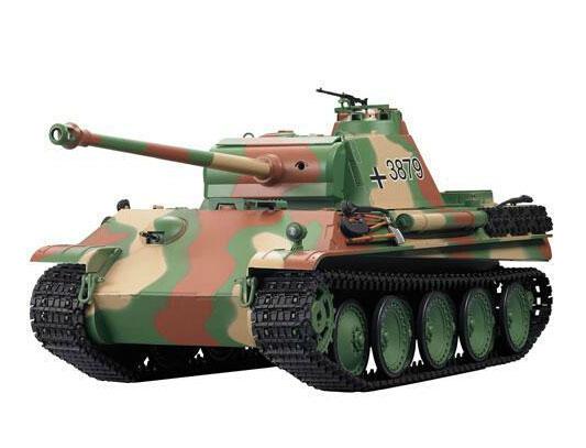 ラジコン戦車完成品ヘンロンHengLong 1/16 パンターG 後期型(2.4GHz・プラキャタピラ・BB・サウンド・発煙仕様)German Panther-G Late version Tank Plastic Tracks 3879-1