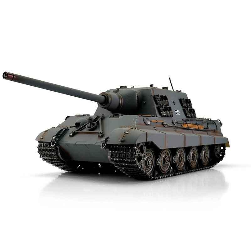 ラジコン戦車完成品トロTorro 1/16JagdTigerプロ-メタルエディション2.4Ghz(金属キャタピラ・赤外線バトルシステム・サウンド・発煙仕様・ジャーマングレー迷彩塗装)1/16 RC Jagdtiger grey IR 1112200786