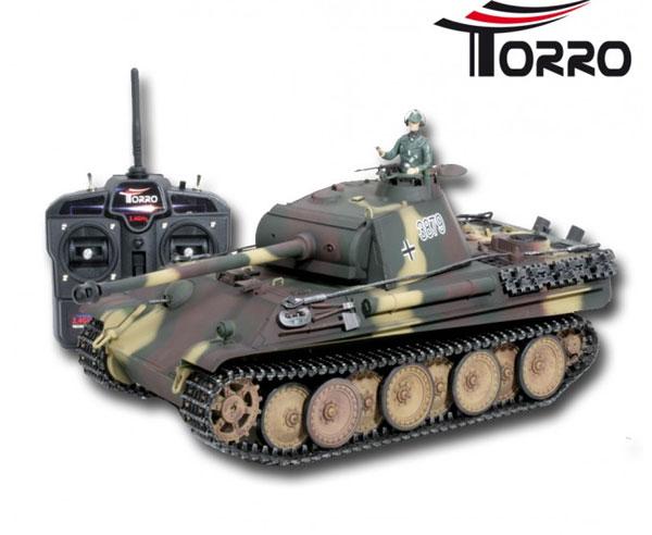 ラジコン戦車完成品タイゲンTorro/Taigen 1/16 パンターG型(ウェザリング迷彩塗装済み・プラキャタピラ・BB ・サウンド・発煙仕様)最新2.4G送受信機搭載バージョン!1112873321