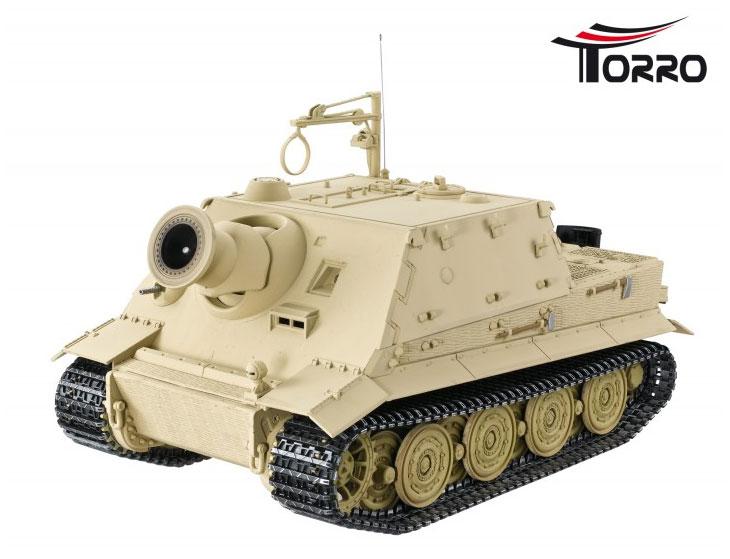 ラジコン戦車完成品トロTorro 1/16SturmTiger (金属シャーシー・赤外線バトルシステム・サウンド・発煙仕様・デザート塗装) Sturmtiger tank 2.4 GHz 1/16 IR Battle System Desert Color 1/16 Torro 1111703342