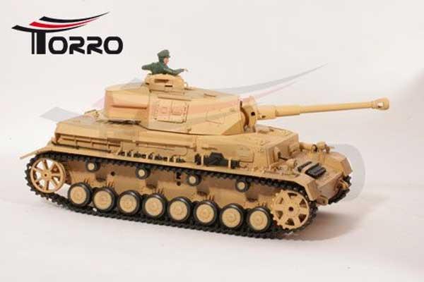 ラジコン戦車完成品ヘンロンTorro/HengLong 1/16 IV号F2型(デザート塗装・プラキャタピラ・金属ギアボックス・赤外線バトルシステム・サウンド・発煙仕様)RC PANZER IV Ausf. F2 PANZER 4 1/16 Neueste Version F-2