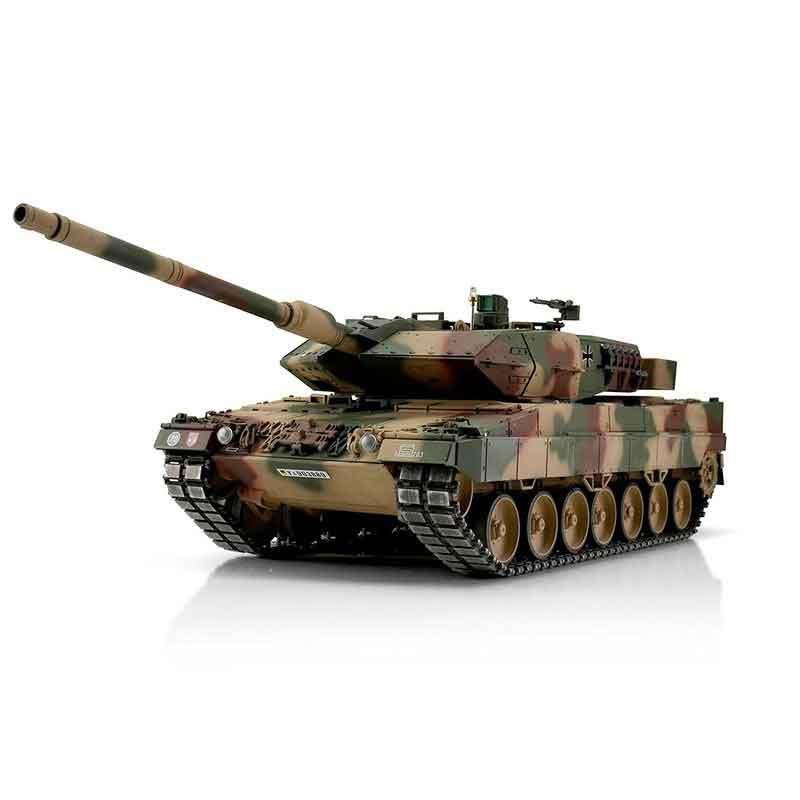 ラジコン戦車完成品トロTorro 1/16レオパルド2A6プロ-メタルエディション2.4Ghz(金属キャタピラ・赤外線バトルシステム・サウンド・発煙仕様・三色迷彩塗装)1/16 RC Leopard 2A6 IR 1113889001