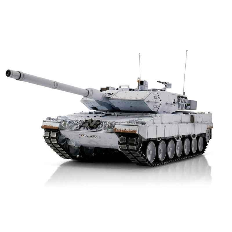 ラジコン戦車完成品トロTorro 1/16レオパルド2A6プロ-メタルエディション2.4Ghz(金属キャタピラ・赤外線バトルシステム・サウンド・発煙仕様・冬季迷彩塗装)1/16 RC Leopard 2A6 UN IR 1113889003