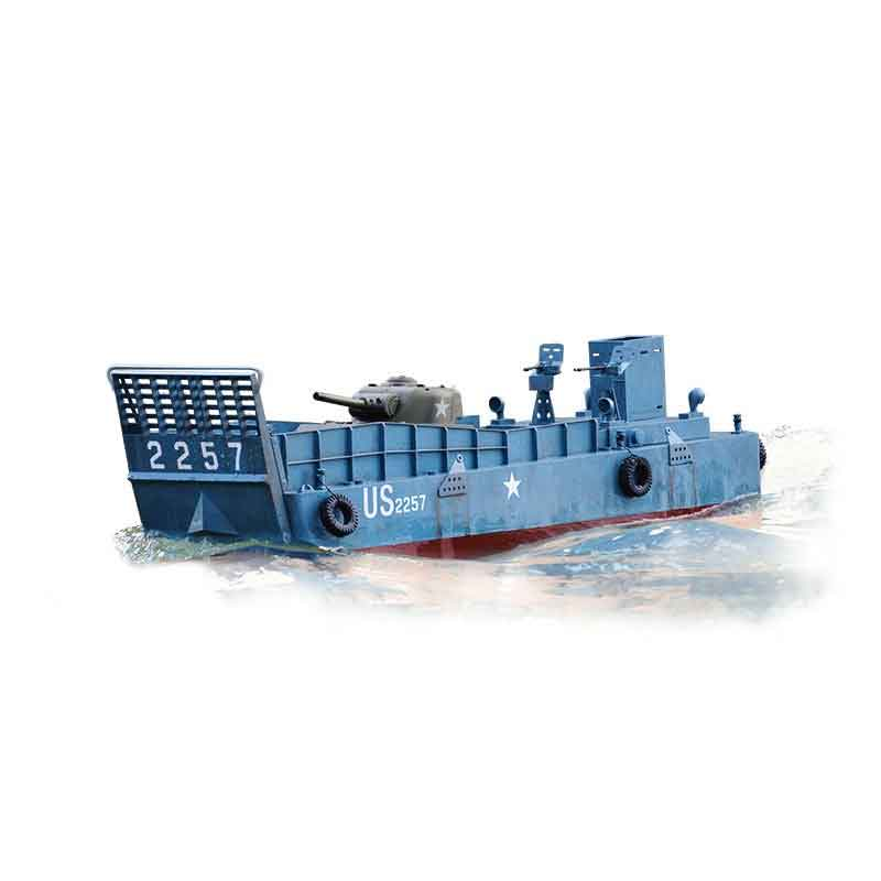 ラジコン戦車完成品トロTorro 1/16 上陸用舟艇LCM3 2.4Ghz(塗装済完成品)1/16 RC Landing Craft Mechanized (LCM) 3 Normandy 1944 Torro Pro-Edition 1149900001