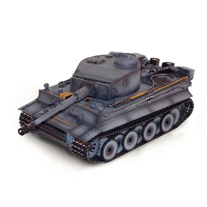 ラジコン戦車完成品トロTorro 1/16Tiger I 初期型(金属シャーシー・赤外線バトルシステム・サウンド・発煙仕様・グレーウェザリング塗装) Tiger 1 Panzer mit Metallunterwanne Frühe Version IR Torro 1112205222