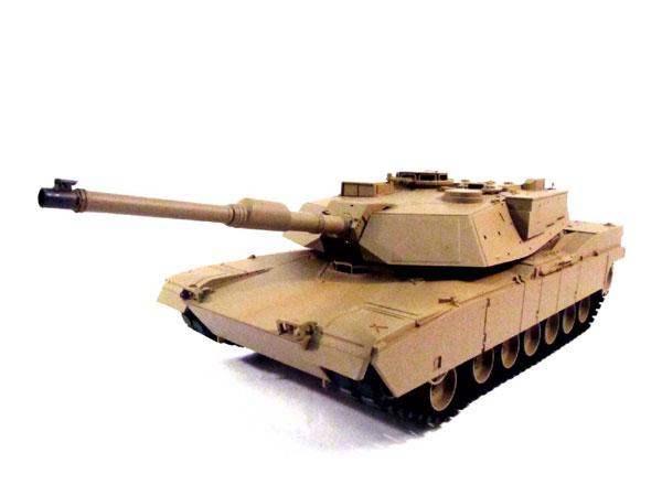 ラジコン戦車完成品ヘンロンHengLong 1/16 M1A2エイブラムス 2.4GHz(金属ギアボックス・金属キャタピラ・BB・サウンド・発煙仕様)