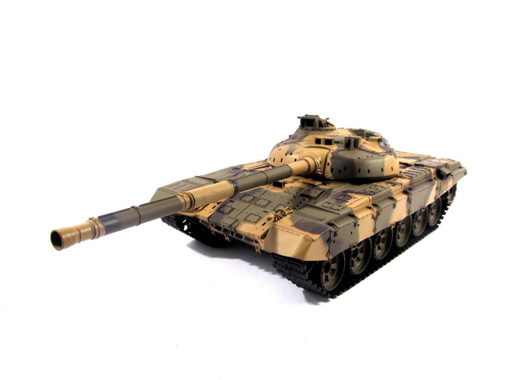 ラジコン戦車完成品ヘンロンHengLong 1/16 T-90 2.4GHz(金属ギアボックス・プラキャタピラ・BB・サウンド・発煙仕様)