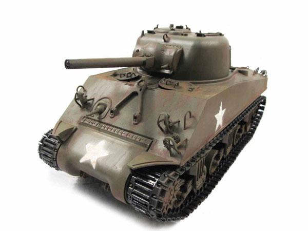 ラジコン戦車完成品マトMato/Clark 1/16 シャーマンM4A3(75mm) 2.4Ghz(フルメタル・赤外線バトルシステム・サウンド仕様・アルミケース・オリーブドラブ塗装仕様) 1230-A-IR