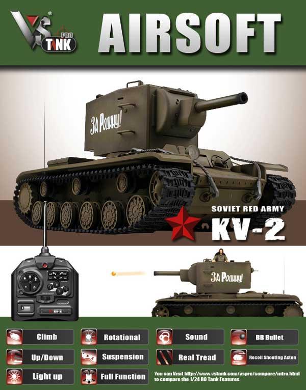 VSTANKPRO KV-2(オリーブグリーン・BBシューティングシステム・サウンド)