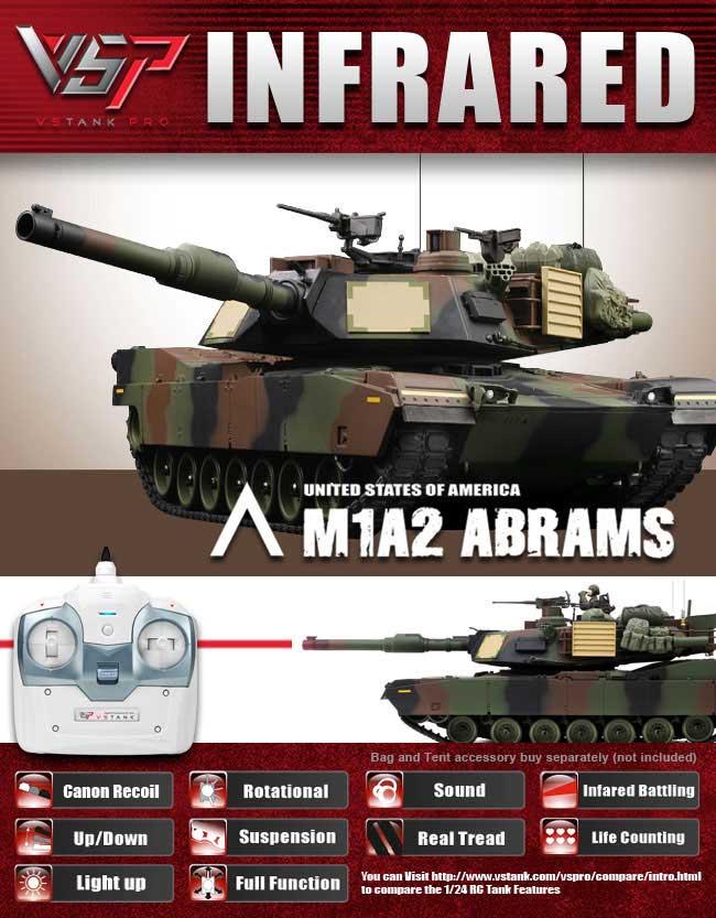 VSTANKPRO 2.4GHz M1A2 エイブラムス (NATO迷彩塗装・IRバトルシステム・サウンド)